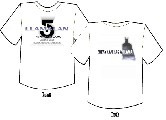Gallery image - LlamaLAN V T-shirt Layout